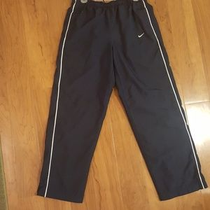 NIKE MENS MED NAVY BLU ATHLETIC COTTON LINED PANTS